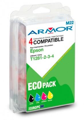 Náplně a tonery - kompatibilní ARMOR náplň, multipack Black + C/M/Y B10215R1