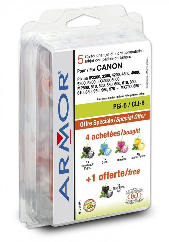 Náplně a tonery - kompatibilní ARMOR náplň multipack, (PGi5/CLi8CMY)B10152R1