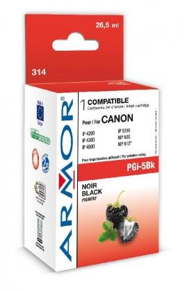 Náplně a tonery - kompatibilní ARMOR náplň, pigm Black (PGI5BK)K12387
