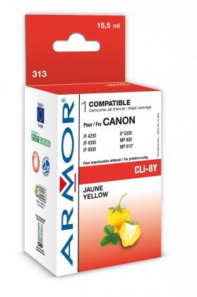 Náplně a tonery - kompatibilní ARMOR náplň, Yellow (CLI8Y)K12386