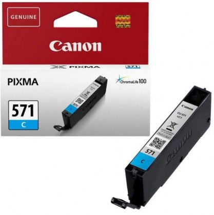 Náplně a tonery - originální Canon CLI-571C, azurová - originální