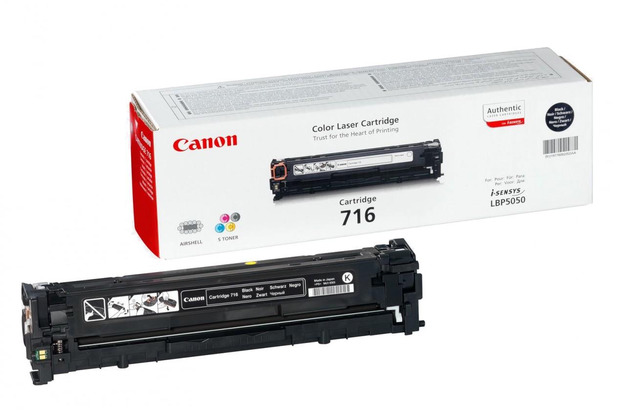 Náplně a tonery - originální Canon CRG-716Bk - originální