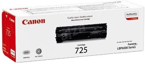Náplně a tonery - originální Canon LASER TONER black CRG-725 (CRG725) ROZBALENO