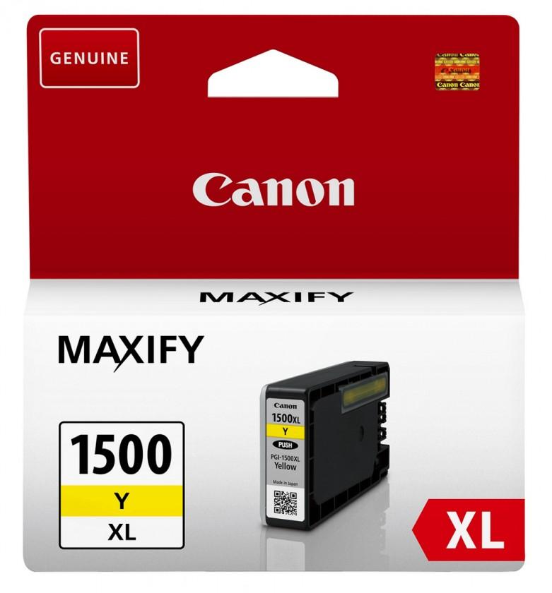 Náplně a tonery - originální Canon PGI-1500XL Y, žlutá 9195B001
