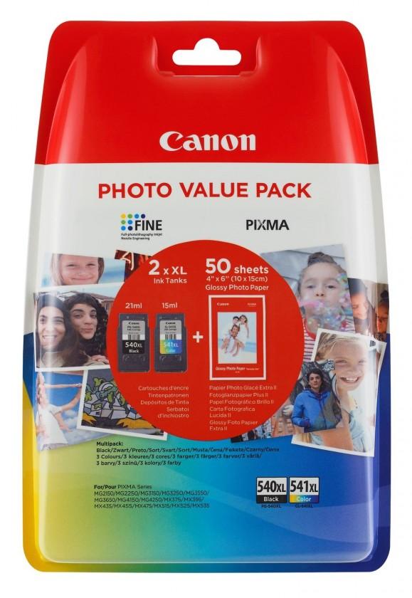 Náplně a tonery - originální Cartridge Canon PG-540XL / CL-541XL + 50x GP-501