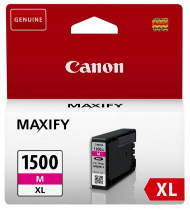 Náplně a tonery - originální Cartridge Canon PGI 1500XL, 9194B001, purpurová