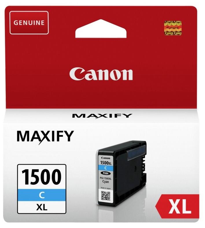 Náplně a tonery - originální Cartridge Canon PGI-1500XL C, 9193B001, azurová