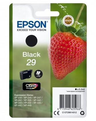Náplně a tonery - originální Cartridge Epson C13T29814010, Claria Home T2981, černá