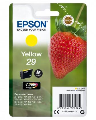 Náplně a tonery - originální Cartridge Epson C13T29844010, Claria Home T2984, žlutá