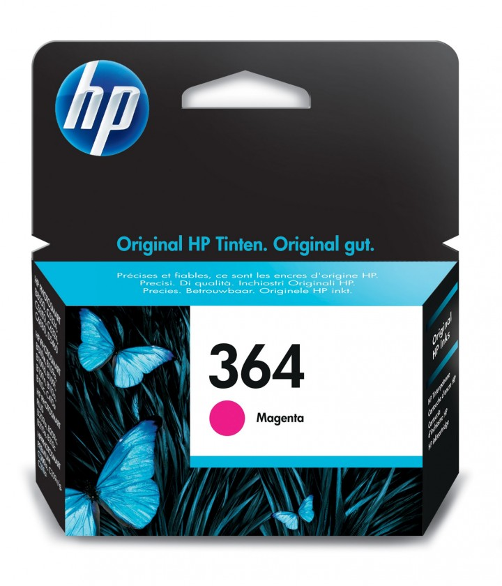 Náplně a tonery - originální Cartridge HP CB319EE, 364, purpurová