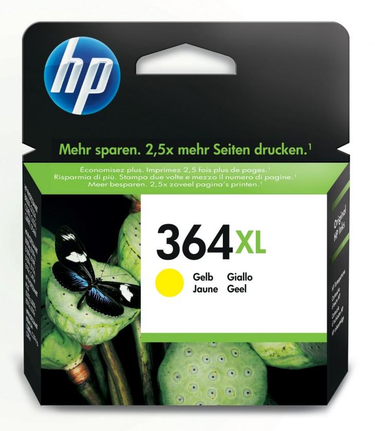 Náplně a tonery - originální Cartridge HP CB325EE, 364XL, žlutá