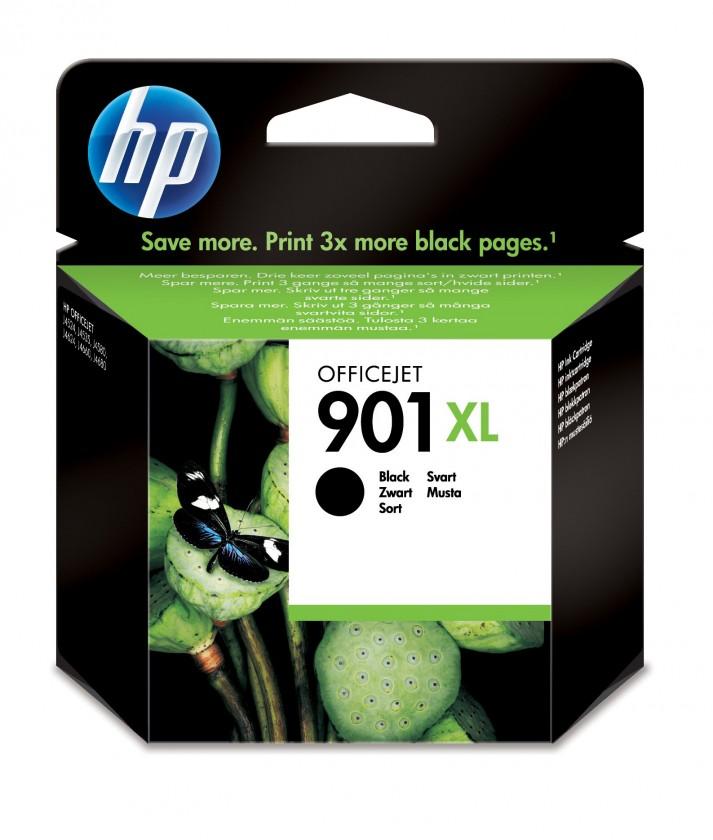 Náplně a tonery - originální Cartridge HP CC654AE, 901XL, černá