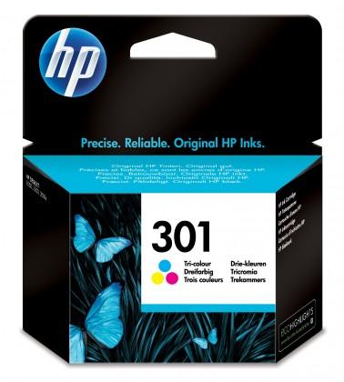 Náplně a tonery - originální Cartridge HP CH562EE, 301, Tri-color