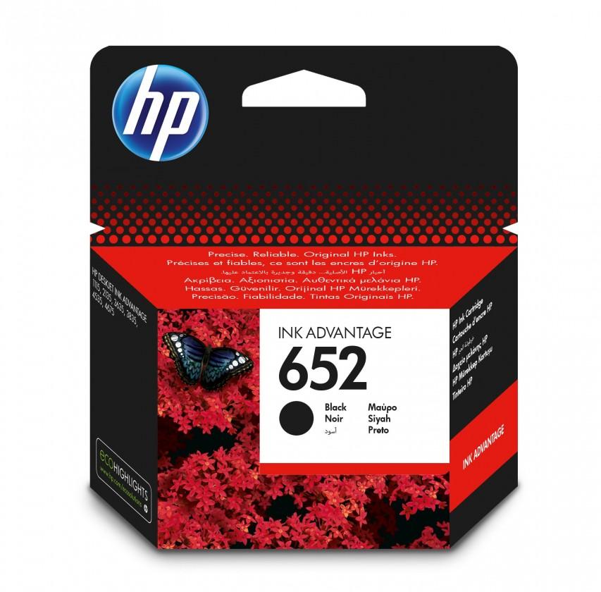 Náplně a tonery - originální Cartridge HP F6V25AE, 652, černá