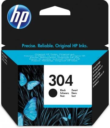 Náplně a tonery - originální Cartridge HP N9K06AE, 304, černá