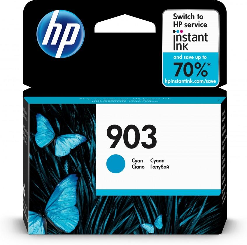 Náplně a tonery - originální Cartridge HP T6L87AE, 903, azurová