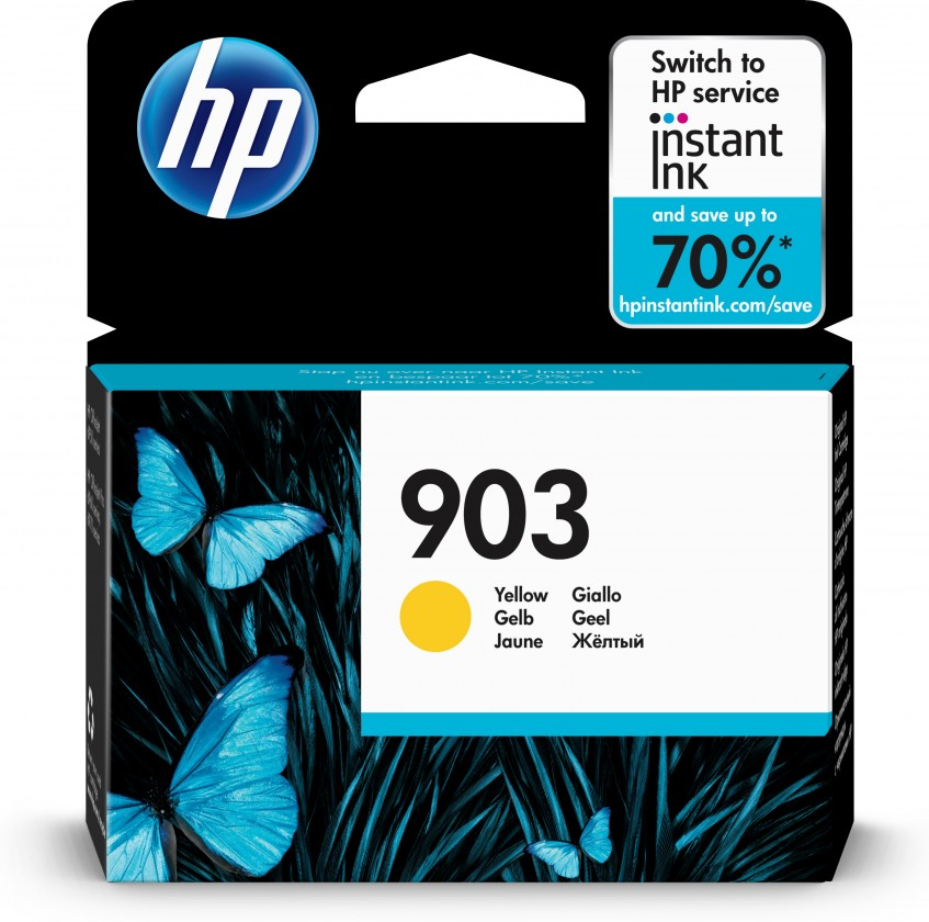 Náplně a tonery - originální Cartridge HP T6L95AE, 903, žlutá