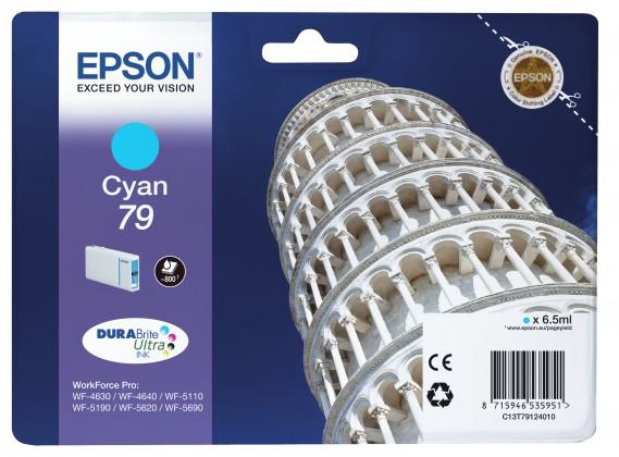 Náplně a tonery - originální Epson originální ink C13T79124010, 79, L, cyan, 7ml