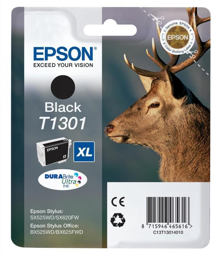 Náplně a tonery - originální Epson T1301, 25ml - originální (C13T13014010) černá
