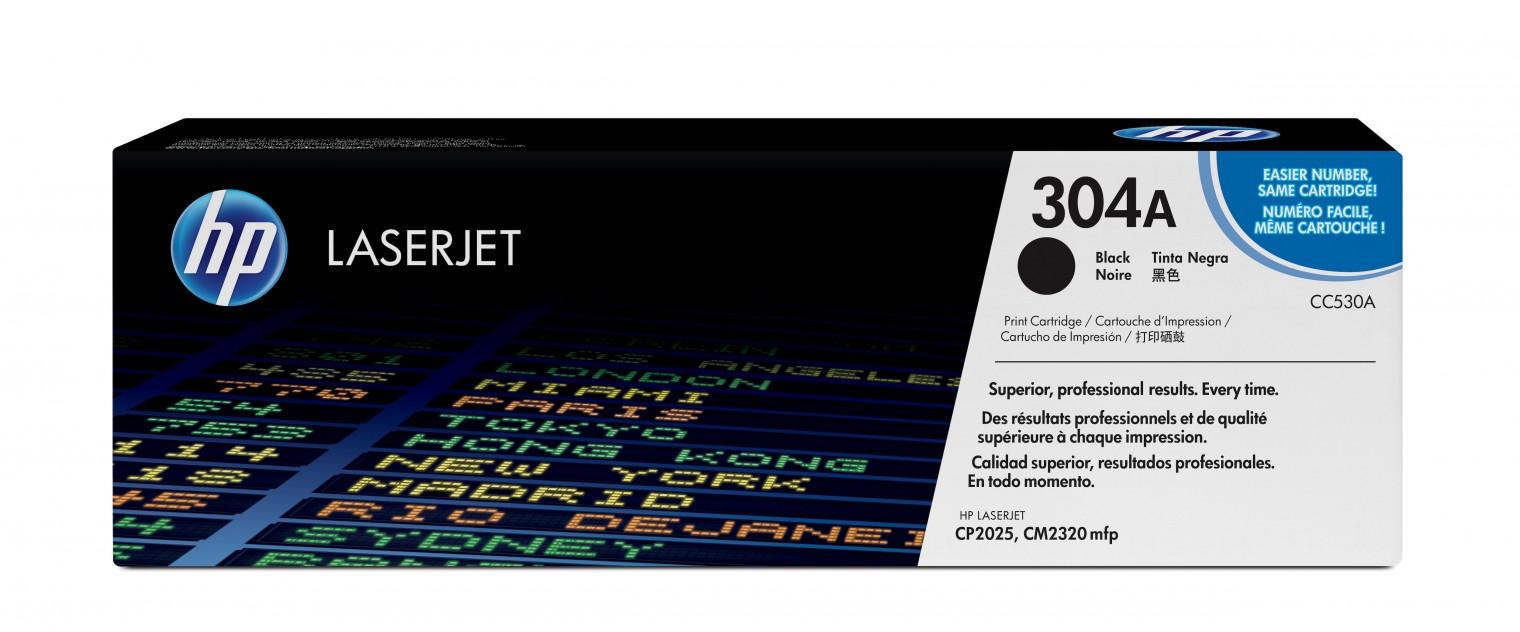 Náplně a tonery - originální HP tisková kazeta CC530A, černá