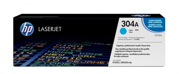 Náplně a tonery - originální HP tisková kazeta CC531A, azurová