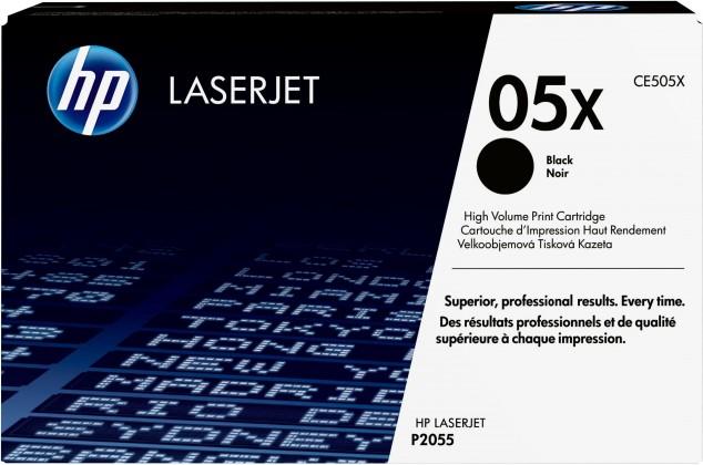 Náplně a tonery - originální HP tisková kazeta CE505X velká, černá