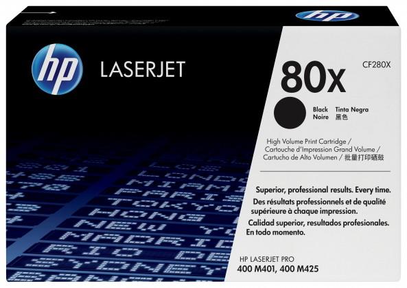 Náplně a tonery - originální HP tisková kazeta CF280X velká, černá