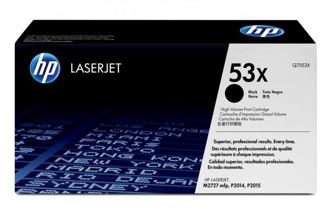 Náplně a tonery - originální HP tisková kazeta Q7553X, černá