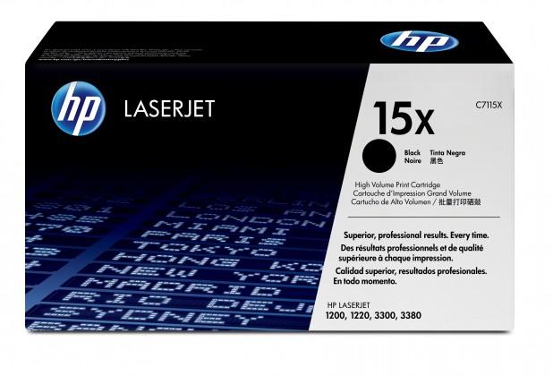 Náplně a tonery - originální HP Ultraprecise toner C7115X velký, černá