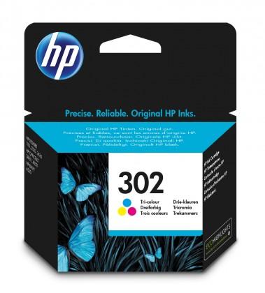 Náplně a tonery - originální Inkoustová kazeta HP 302 3barevná
