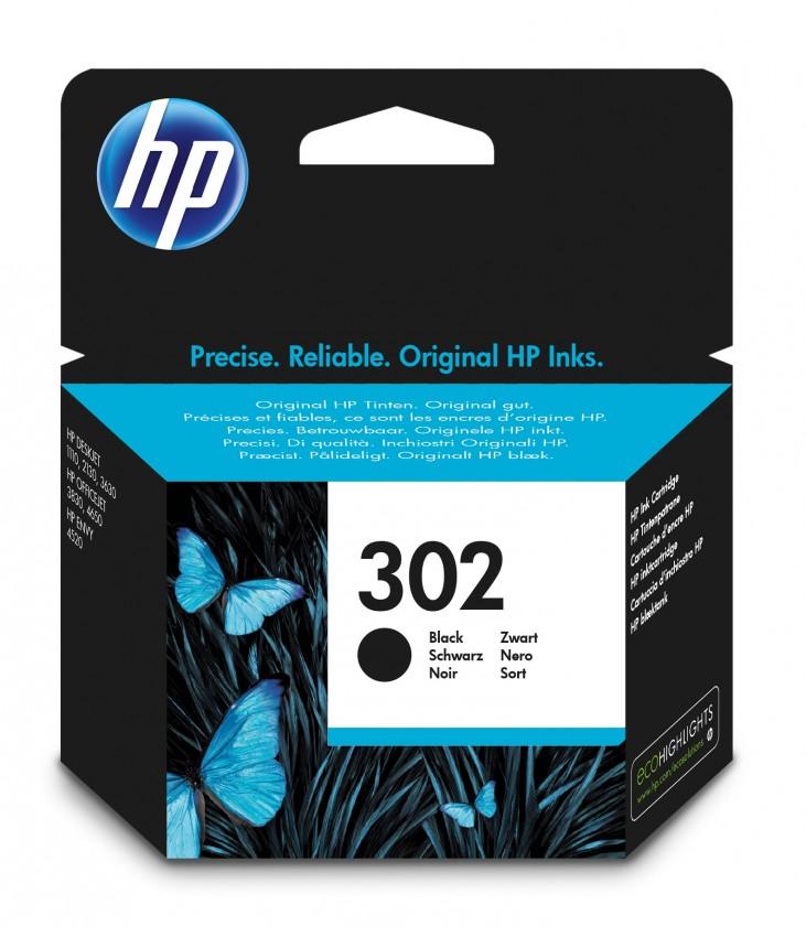 Náplně a tonery - originální Inkoustová kazeta HP 302 černá