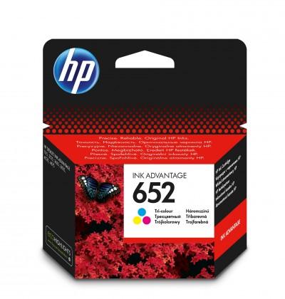 Náplně a tonery - originální Inkoustová kazeta HP F6V24AE č. 652 Tri-color