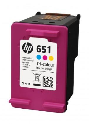 Náplně a tonery - originální Originální cartridge HP C2P11AE č. 651 Tri-color