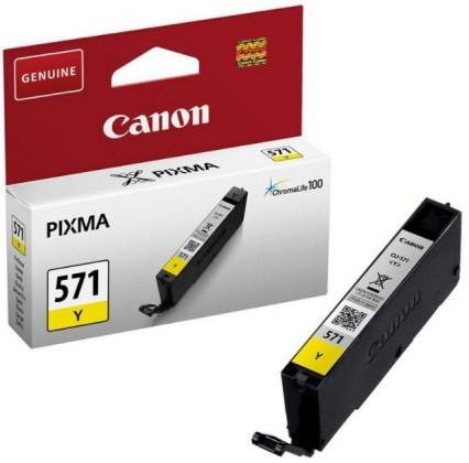 Náplně a tonery - originální Originální žlutá cartridge Canon CLI-571Y