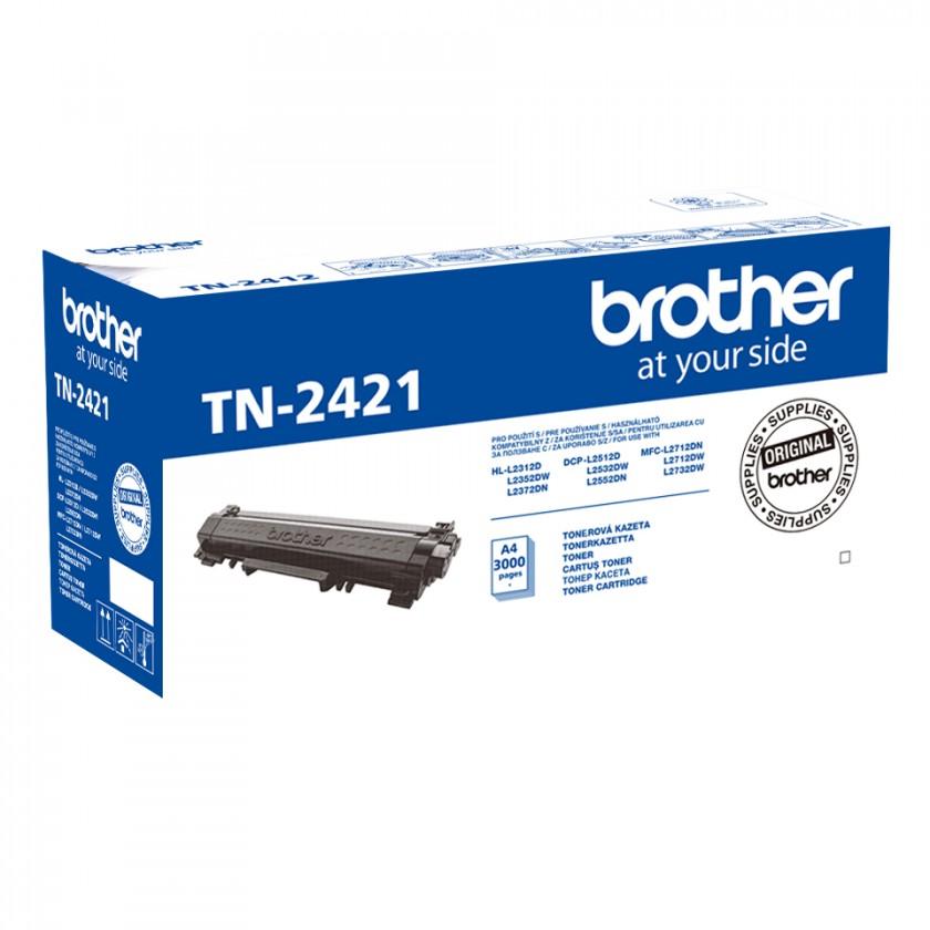 Náplně a tonery - originální Toner Brother TN-2421, černá
