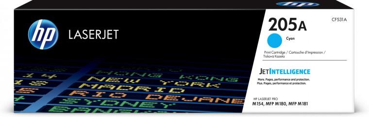 Náplně a tonery - originální Toner HP CF531A, 205A, azurová
