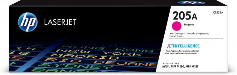 Náplně a tonery - originální Toner HP CF533A, 205A, purpurová