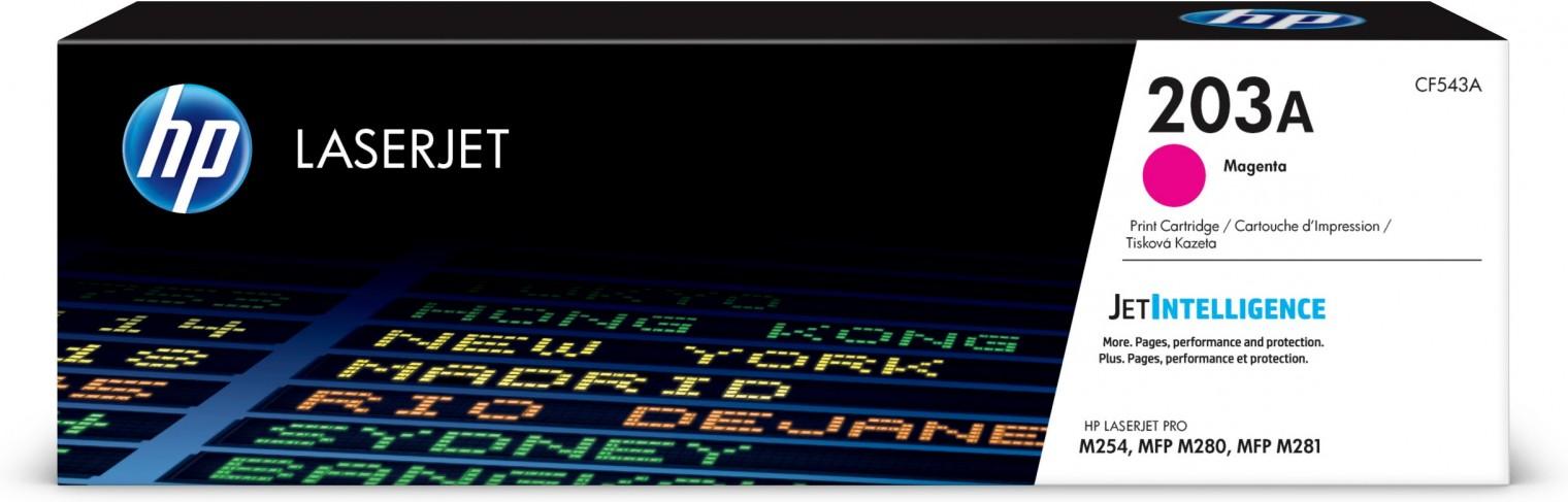 Náplně a tonery - originální Toner HP CF543A, 203A, purpurová
