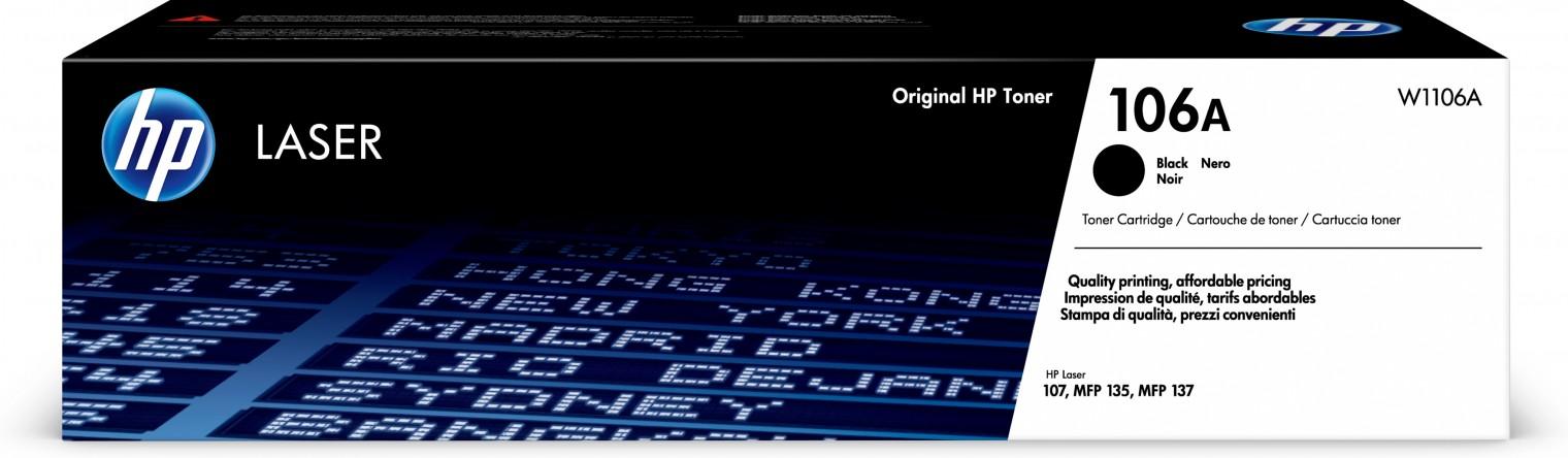 Náplně a tonery - originální Toner HP W1106A, 106A, Black Laser