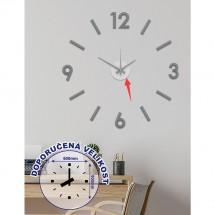 Nástěnné hodiny - H17, 50 cm, šedá