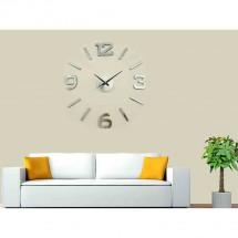 Nástěnné hodiny - H22, 50 cm, stříbrná