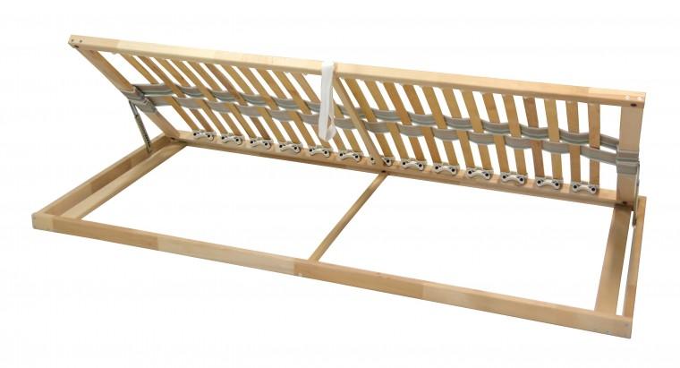 Nepolohovací rošt Rošt Double klasik - 90x200 cm, výklopný do boku