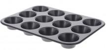 Nepřilnavá forma na 12 muffinů de Buyer 484300, 5,3 cm/7,8 cm