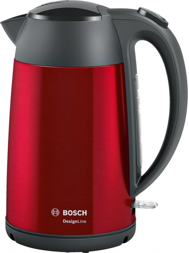Nerezové rychlovarné konvice Rychlovarná konvice Bosch TWK3P424, červená, 1,7l
