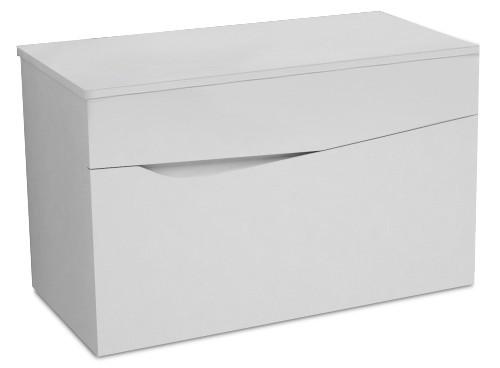 Nice - Skříňka pod deskové umyvadlo (bílá vysoký lesk)