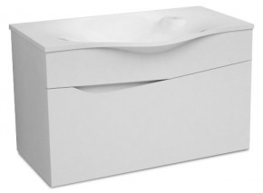 Nice - Skříňka s umyvadlem 80 cm (bílá vysoký lesk)
