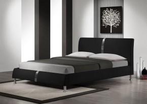 Nigel - Postel 200x160, rám postele, rošt (černá)