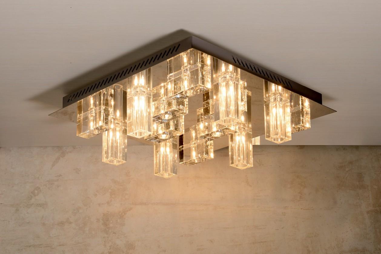 Nikita - stropní osvětlení, 14x10W, G4 (stříbrná)