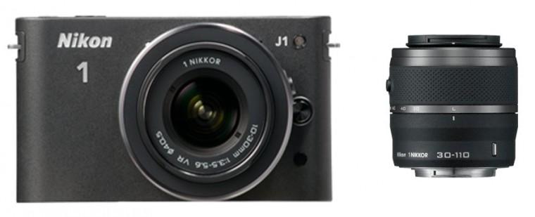Nikon 1 J1 + 10-30 VR + 30-110 VR Black