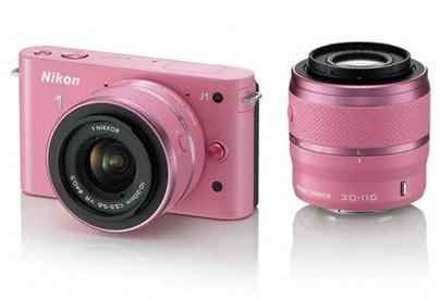 Nikon 1 J1 + 10-30 VR + 30-110 VR Pink